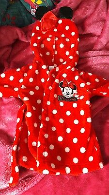 Disney Minnie Mouse dressing gown with ears ❤ 6-9months