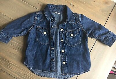 Baby Gap Boys Denim Shirt / Jacket 3-6months , Gorgeous, Really Gd Condition