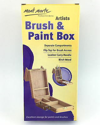 Mont Marte Small Artists Brush and Paint Box Artist Art Organizer Storage Box