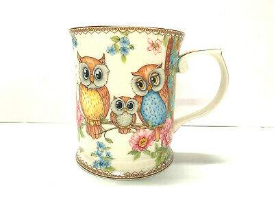 New Owls 415cc Mug Fine Bone China Birthday Xmas Gift