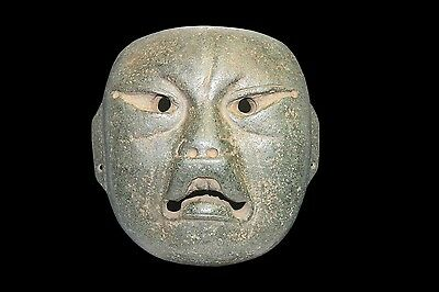 Pre Columbian - Large Olmec Were-Jaguar Transformational Mask - Ancient -