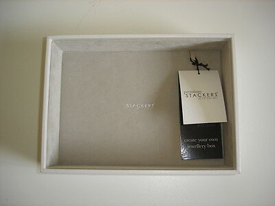 Stackers by LC Designs White & Grey Classic Deep Open Jewellery Tray