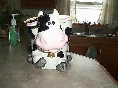 Large Ceramic Holstein Cow Planter ~ Whimsical, Happy Face!