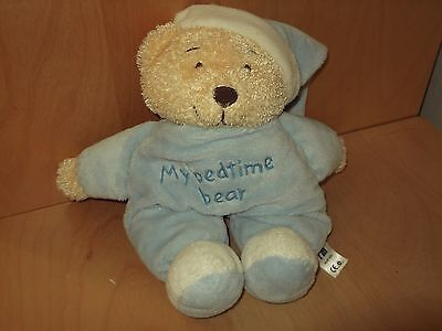 Mothercare Older Style My Bedtime Teddy Bear   Comforter Soft Toy
