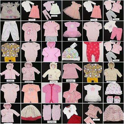 Girls BUILD A BUNDLE Rompers Dresses Babygrows Outfits Tops Coats 3-6 Mths VGC