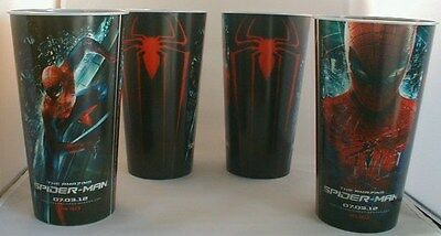 Marvel Comics The Amazing Spider-Man Theater Promotional cups (4) new unused!