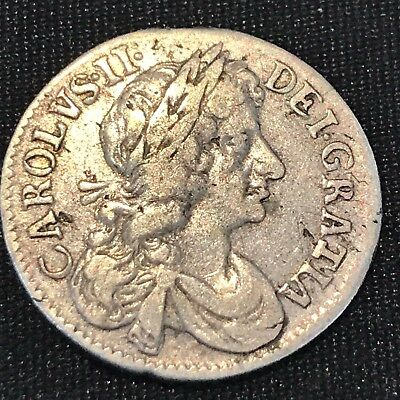 1680 Great Britain 4 Pence Silver   R47