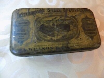 ANTIQUE PRIMITIVE WILLSON GOGGLES Safety Eyeglasses ((RARE WITH CASE)) Vintage