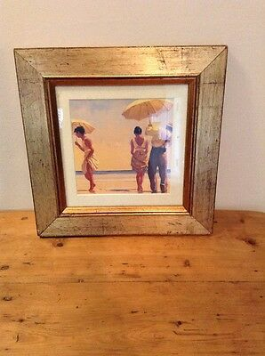 Mad Dogs by Jack Vettriano Framed & Mounted Art Print Gold Frame
