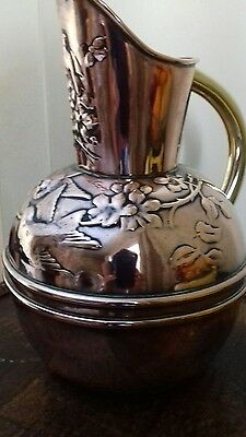 Late Victorian Antique Aesthetic Movement Copper Brass Jug Christopher Dresser