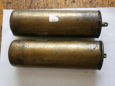 pair of EARLY  LEAD filled brass  LONGCASE GRANDFATHER Clock  weights 1730
