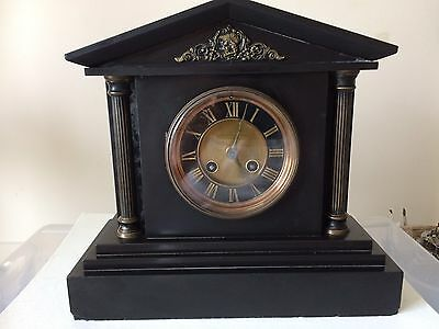 19th Century Slate Mantle Clock With French 8 Day Movement.