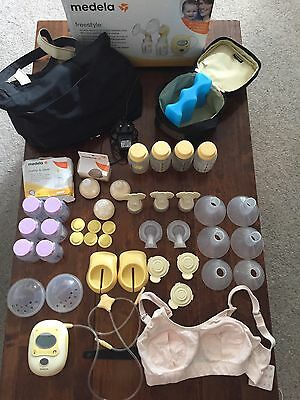 Medela Freestyle Double Electric Breast Pump with Lots Of Extras
