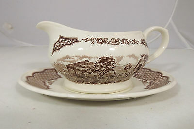 Alfred Meakin Fair Winds 'The Boat Is Waiting' Gravy Boat Staffordshire England