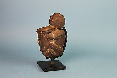 Masterpiece - Human Effigy Pipe Holding Bowl - Ex Jan Sorgenfrei Collection