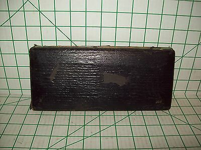 Vintage German Drafting Engineering Compass Wooden Case 209 For Parts