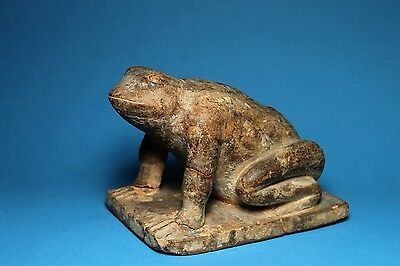 Large Frog Effigy Pipe -  Woodland Era Ca 300-800 A.d - Kentucky