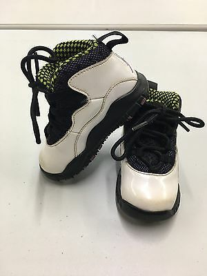 Air Jordan Shoes Size 6c Toddler Michael Jordan Basketball White Purple Yellow