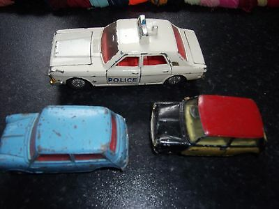 1 Dinky +2 Corgi Vintage Toy Vehicles (Played With)
