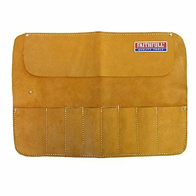 Faithfull Leather Chisel Roll - 8 Pocket