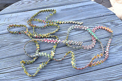 Vintage 1960's Woven Chewing Gum Wrapper Chain 6' x 2 = 12' Very Colorful!