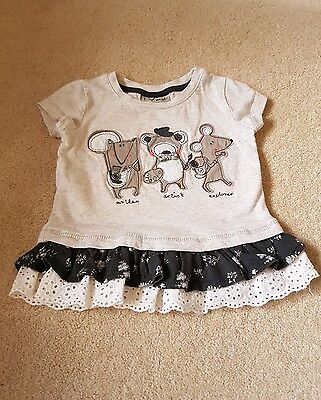 Next baby girl t shirt 3-6 months