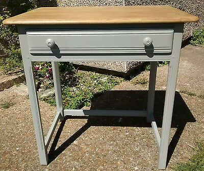 Antique Vintage/Shabby Chic Ercol Dressing Table Hand Painted Pale Grey