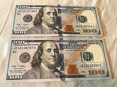 Sequential/Consecutive Uncirculated 2009 Bill Lot ~(2) 100 Dollar Notes