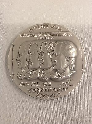 """Connecticut Signers"" Bicentennial Commemorative Silver Medal"