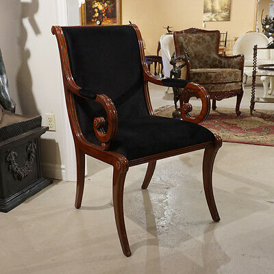 Beautiful high end pair of occasional Mahogany wood arm chairs