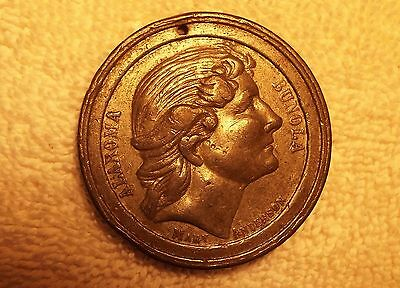 Rare Mary Anderson Alaroma Bunola 1880's Union Coffee Co., New York Medal