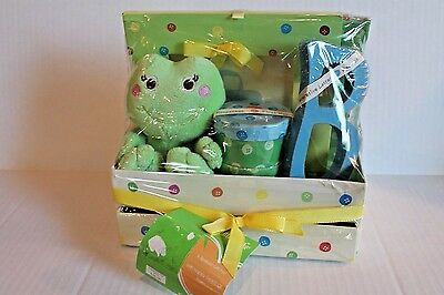 Neil Nathan Baby Keepsake Gift for Infant Boy with Plush Frog , Frame , Boxes