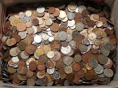 50 Pounds of World Coins Massive Foreign Coin Lot 1800's to 2010s