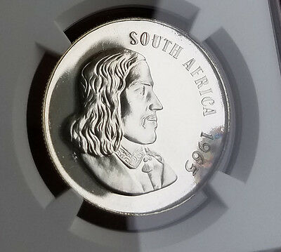 1965 SOUTH AFRICA PF 66 NGC CONSERVED Silver Rand R1 English Legend pr 66 1r
