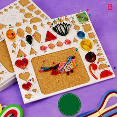 Template Scrapbooking Flower DIY Tools Kit Mould Quilling Rolling Paper Crafts