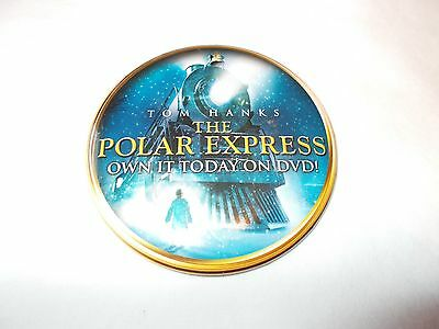 The Polar Express Movie Own it Today on DVD Promo Pin Button Badge Tom Hanks