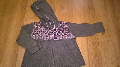 Next Baby Cardigan Aged 18 Months Brown Knitted