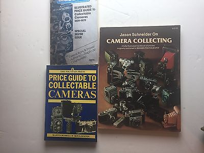 3 Books On Collectible Cameras Blue Book, Price Guide, Schneider