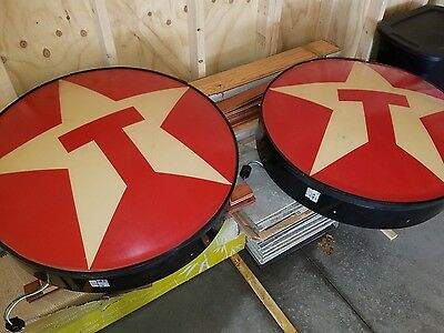 """2 texaco lighted 34"""" signs"""