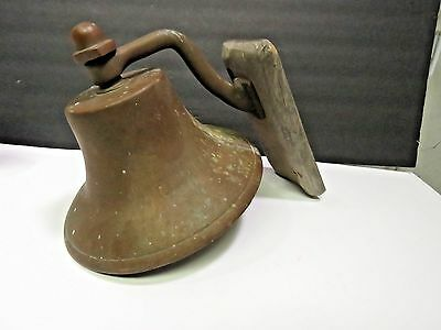 "Antique Bell Nautical Maritime Ship Dock Old Brass Wall Mounting 6"" Loud"