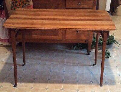 RARE Antique Folding Sewing Table Vintage Cloth Material Cutting Table L@@K Old