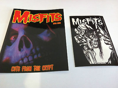 THE MISFITS 2-Pack of Stickers Cuts Crypt & Eyeball NEW OFFICIAL Danzig
