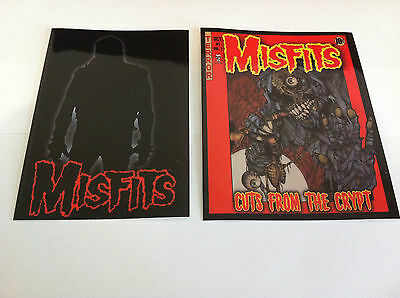 THE MISFITS 2-Pack of Stickers Silhouette & Cartoon Crypt NEW OFFICIAL Danzig