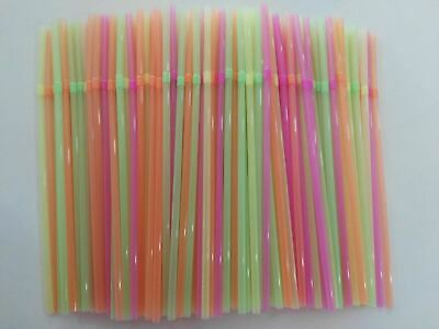 New 900pc Colourful Straight Straws Disposable Drinking Straw Plastic Party