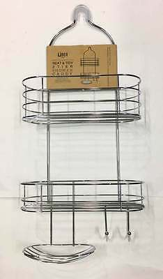 New 2Tier Shower Caddy Rack Chrome Organiser Bath  Hang Storage Shelves Bathroom