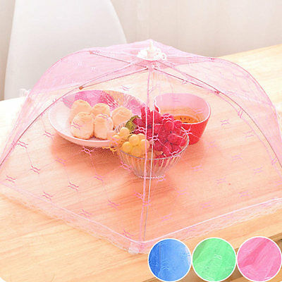 New Fold Food Cover Tent Umbrella Collapsible Cake Covers Lace Mesh Net Insect