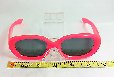 NOS True Vintage Mod GoGo 1960s Large Pink Rectangular Sunglasses Size M