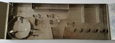 Antique Fred Haslam Stainless Steel Medical Tool Case Box 1912 Estate Auction58