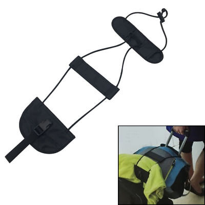 Add A Bag Strap Travel Luggage Suitcase Adjustable Belt Carry On Bungee Strap QT