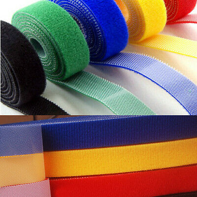 New 10mm 15mm 20mm Cable Ties Straps  Double Sided Hook and Loop Tape Fastener